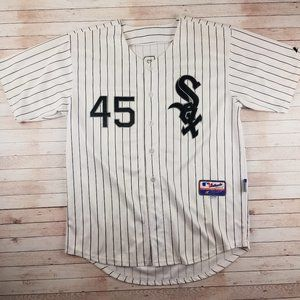 VTG Michael Jordan White Sox Pin Stripe Jersey